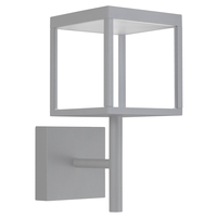 Access 20080LED-SG/CLR Reveal LED 15 inch Satin Gray Outdoor Wall Sconce