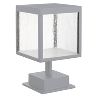 Reveal LED 13 inch Satin Gray Outdoor Pier Mount