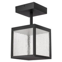 Access 20084LED-BL/SDG Reveal LED 7 inch Black Outdoor Semi Flush Mount