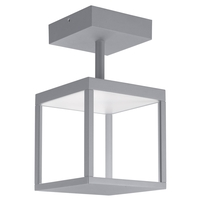 Access 20084LED-SG/CLR Reveal LED 7 inch Satin Gray Outdoor Semi Flush Mount