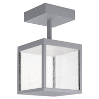 Access 20084LED-SG/SDG Reveal LED 7 inch Satin Gray Outdoor Semi Flush Mount