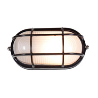 Access Lighting Nauticus 1 Light Bulkhead in Black with Frosted Glass C20290BLFSTEN1113BS