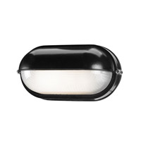 Access Lighting Nauticus 1 Light Bulkhead in Black with Frosted Glass C20291BLFSTEN1113BS