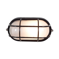 Access Lighting Nauticus 1 Light Bulkhead in Black with Frosted Glass C20292BLFSTEN1118BS