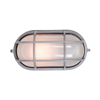 Nauticus 1 Light 11 inch Satin Outdoor Flush Mount