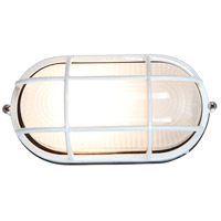Access Lighting Nauticus 1 Light Outdoor Flush Mount in White 20292-WH/FST