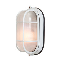 Access Lighting Nauticus 1 Light Outdoor Flush Mount in White 20292-WH/FST alternative photo thumbnail