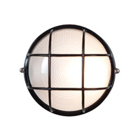 Access Lighting Nauticus 1 Light Outdoor Flush Mount in Black 20294-BL/FST