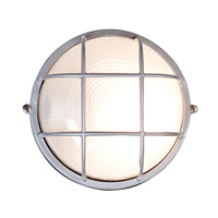 Nauticus 1 Light 7 inch Satin Outdoor Flush Mount