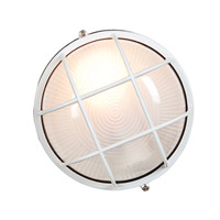 Nauticus 1 Light 7 inch White Outdoor Flush Mount in Incandescent