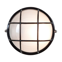 Access Lighting Nauticus 1 Light Bulkhead in Black with Frosted Glass C20296BLFSTEN1118BS