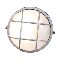 Nauticus 1 Light 10 inch Satin Outdoor Flush Mount