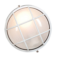 Access Lighting Nauticus 1 Light Outdoor Flush Mount in White 20296-WH/FST