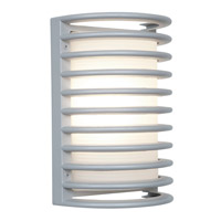 Access Lighting Poseidon 1 Light Wet Location Bulkhead in Satin with Ribbed Frosted Glass 20300LEDMG-SAT/RFR
