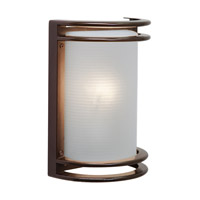 Access Lighting Poseidon 1 Light Wet Location Bulkhead in Bronze with Ribbed Frosted Glass 20302LEDMG-BRZ/RFR
