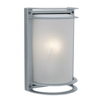 Access Lighting Poseidon 1 Light Wet Location Bulkhead in Satin with Ribbed Frosted Glass 20302LEDMG-SAT/RFR