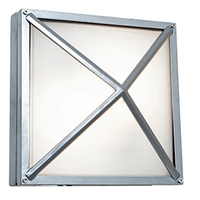 Access Lighting Oden 1 Light Outdoor Wall in Satin with Frosted Glass 20330LED-SAT/FST