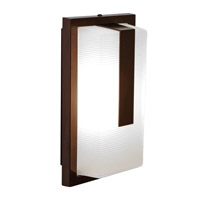 Access Lighting Neptune 1 Light Outdoor Wall in Bronze with Ribbed Frosted Glass 20333LEDMG-BRZ/RFR