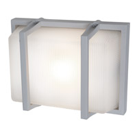 Access Lighting Neptune 1 Light Outdoor Wall in Satin with Ribbed Frosted Glass C20335MGSATRFREN1118BS