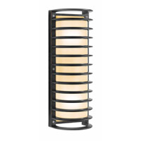 Access Lighting Poseidon 2 Light Wet Location Bulkhead in Bronze with Ribbed Frosted Glass 20342MG-BRZ/RFR