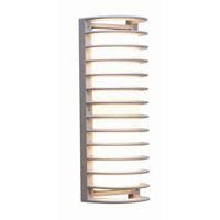 Access Lighting Poseidon 2 Light Wet Location Bulkhead in Satin with Ribbed Frosted Glass 20342MG-SAT/RFR
