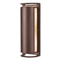 Access Lighting Poseidon 2 Light Wet Location Bulkhead in Bronze with Ribbed Frosted Glass 20343MG-BRZ/RFR
