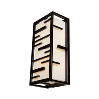 Access Lighting Tao 2 Light Outdoor Wall Light in Bronze 20348MG-BRZ/ACR