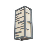 Access Lighting Tao 2 Light Outdoor Wall Light in Satin 20348MG-SAT/ACR