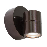 KO 1 Light 4 inch Bronze Outdoor Wall in Incandescent