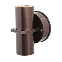 KO 2 Light 7 inch Bronze Outdoor Wall in Incandescent