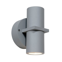 KO 2 Light 7 inch Satin Outdoor Wall in Incandescent