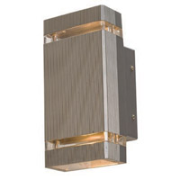 Access Lighting Beacon 2 Light Outdoor Wall in Satin 20357-SAT/CLR photo thumbnail
