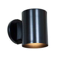 Poseidon 1 Light Black Outdoor Wall