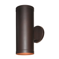 Access Lighting Poseidon 2 Light Outdoor Wallwasher in Bronze with Clear with Frosted Ring Glass C20364BRZCLREN1213B