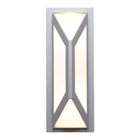Nyami 2 Light 16 inch Satin Outdoor Wall in Incandescent