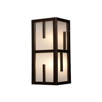 Zen 1 Light 12 inch Bronze Outdoor Wall Light