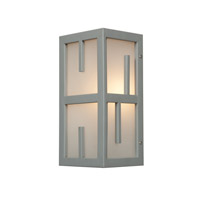 Access Lighting Zen 1 Light Outdoor Wall Light in Satin 20376MG-SAT/FST