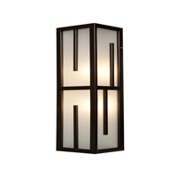 Access Lighting Zen 2 Light Outdoor Wall Light in Bronze 20377MG-BRZ/FST