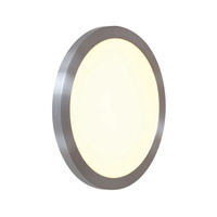 Access Lighting LEDORB 1 Light Outdoor Flush Mount in Satin 20394LED-SAT/ACR