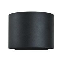 Curve LED 4 inch Black Outdoor Wall Sconce