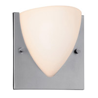 Access Lighting Hera 1 Light Oval Wall Sconce in Brushed Steel 20430-BS/OPL photo thumbnail