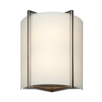 Access 20451-BS/OPL Vector 2 Light 9 inch Brushed Steel ADA Wall Sconce Wall Light in 2700K, Incandescent