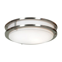 Access 20464GU-BS/ACR Solero 1 Light 12 inch Brushed Steel Flush Mount Ceiling Light