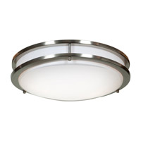 Access 20465GU-BS/ACR Solero 2 Light 14 inch Brushed Steel Flush Mount Ceiling Light