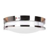 Access 20466LEDEM-BS/ACR Solero LED 18 inch Brushed Steel Flush Mount Ceiling Light