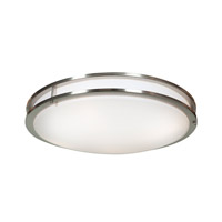 Solero 6 Light 24 inch Brushed Steel Flush Mount Ceiling Light