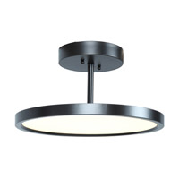 Sphere LED 15 inch Oil Rubbed Bronze Semi Flush Mount Ceiling Light