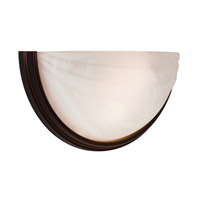 Access Lighting Crest 1 Light Wall Sconce in Oil Rubbed Bronze with Alabaster Glass C20635ORBALBEN1118BS