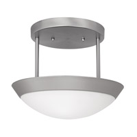 Access Lighting Cobalt 2 Light Semi-Flush in Brushed Steel 20638-BS/OPL
