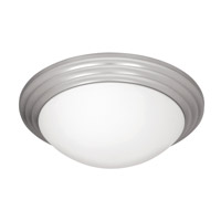 Strata 3 Light 16 inch Brushed Steel Flush Mount Ceiling Light in Incandescent